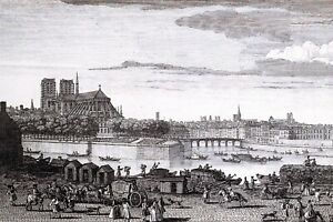 New Glossy Art Postcard, NOTRE DAME Cathedral Church 1729 Paris France 95O