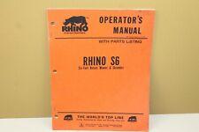Rhino S6 6 Rotary Mower Amp Shredder Operators Manual Withparts List 4 79