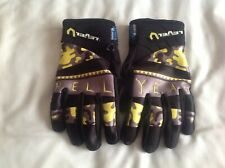 iTouch by Level Gloves Size 8 - M  black yellow grey pattern ski snowboarding