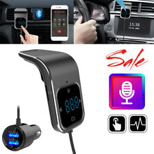Wireless Bluetooth FM Transmitter Hands-free Radio Receiver MP3 USB Charger Fast