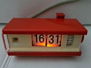 Copal digitaler Klappzahlen Wecker Uhr 70er Jahre  Design aus Japan