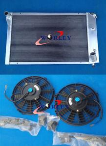 For Chevy Corvette 1977 1978 1979 1980 1981 1982 Aluminum Radiator & Dual Fans×2