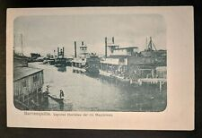 Mint Vintage Steam Boat Magdalena Barranquilla Columbia Real Picture Postcard
