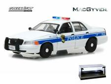 DIECAST CAR W/LED CASE 2003 FORD CROWN VICTORIA POLICE INTERCEPTOR MACGYVER 1/43