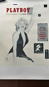 Marilyn Monroe 1st Playboy Cover Limited Ed. Lithograph Signed by Hugh Hefner