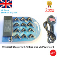 Universal Laptop Charger Plug UK AC Power Adapter Charger Multi Connectors 90W