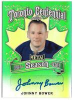 2016-17 Johnny Bower Leaf Metal Toronto Centennial Auto Green 2/3 - Maple Leafs
