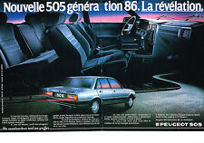 PUBLICITE ADVERTISING  1985   PEUGEOT  505 GTI AM 86  (2 pages)