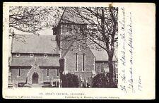 Channel Islands ALDERNEY St Anne's Church 1904 PPC fine postmark