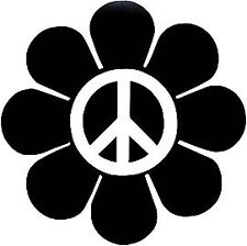 PEACE sign emblem Daisy Flower Hippy VW Decal Sticker PICK Your COLOR