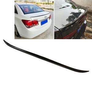 4ft Gloss Black PU Car Rear Wing Lip Spoiler Tail Trunk Roof Trim Luxury Kit