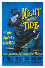 1963 NIGHT TIDE WITH DENNIS HOPPER VINTAGE HORROR MOVIE POSTER PRINT 24x16