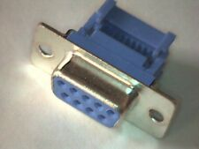 Sub-D-Buchse 9pol female Schneidklemm für Flachkabel Quetschverbindung