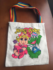 Muppet Babies Canvas Tote with Miss Piggy and Kermit