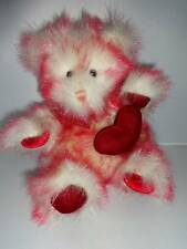 "Dakin Red Heart Sparkle Stuffed Plush Teddy Bear 9"" Valentines Love"