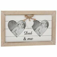 Dad and Me Shabby Chic Provence Range Heart Photo Frame Fathers Day Gift