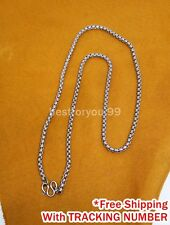 "26"" NECKLACE STAINLESS THAI AMULET BUDDHA STEEL PENDANT CHAIN RARE LP RICH"