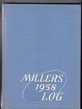 1958 Springfield High School Yearbook The Millers Log Springfield, Oregon