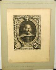 Eau forte et burin de Randon, Portrait de Zampieri