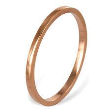 ECHT ROTGOLD *** Dünner Ring Bandring / Größe wählbar