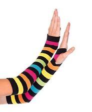 Leg Avenue Rainbow Arm Warmers Striped 2031 Fingerless Gloves
