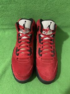 Nike Air Jordan V Retro 5 Red Suede Raging Bull Size 11.5 DMP Supreme Off White