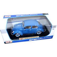 Maisto 1955 VW Volkswagen Beetle Kafer 1:18 Diecast Model Car Blue