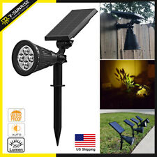 Solar Power Spotlight LED Garden Spot Light Outdoor Lawn Landscape Wall Light