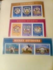 9 Disney Stamps from Guyana