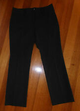 MICHAEL KORS Size 10 Black with Faint Pinstripe Dress/Career Pants