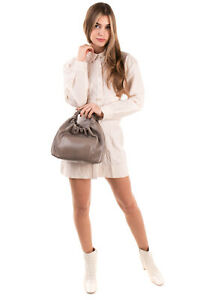 RRP €3870 THE ROW Double Circle Snakeskin Tote Bag Ruched Handles Made in Italy