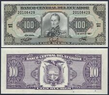 ECUADOR P123**100 SUCRES***ND 1997***UNC GEM***SEE FULL DESCRIPTION