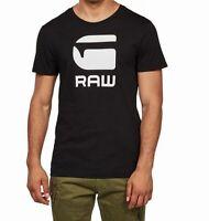 G-Staw Raw Mens T-Shirt Black Small S Flocked Logo Graphic Tee Crewneck $35 221
