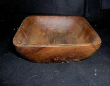 """Hand Made Wood Wooden Bowl Rustic Style Wooden Bowl 4 3//8/"""" Wide  X 8/"""" L 1 3//4/"""" T"""