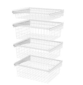 Closetmaid 17 D x 21  W x 27 in. H ShelfTrack 4-Drawer Closet Kit Steel 02815