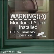 6 x 130mm Monitored Alarm Installed CCTV Camera Security Warning Window Sticker