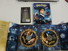HARRY POTTER Y LA PIEDRA FILOSOFAL - 2 X DVD CAJA CARTON DESPLEGABLE ESP ENGLISH