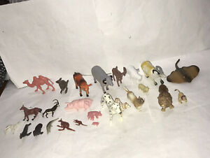Various Bundle Of Animals Schleich Lion & Unbranded Farm And Sea Animals