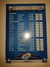 DALLAS COWBOYS 2008 SCHEDULE POSTER - 26 1/2x18 1/4 NFL FOOTBALL MILLER LITE