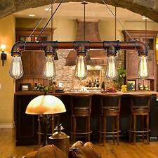 Vintage Industrial Ceiling Chandelier Metal Water Pipe Pendant Rustic Light Lamp