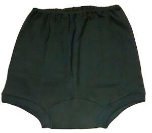 MOLLISSA school knickers, bottle green, cotton, elasticated waist/legs, Size 20