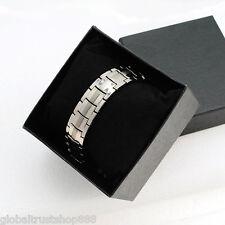 Anti-Fatigue Titanium Anion Magnetic Energy Power Bracelet + Free Box
