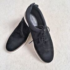 Alfani Men's Gregor Casual Shoes Size 7.5 Black Suede - VGUC