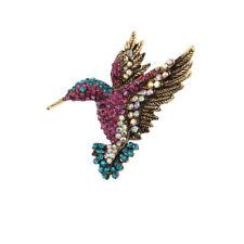 Alloy Rhinestone Bird Brooch Pin Crystal Animal Hummingbird Brooch Pin For Gift