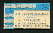 1985 Roger Waters Pink Floyd concert ticket stub Pros and Cons of Hitch Hiking