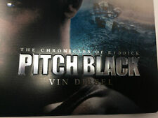 Pitch Black - Riddick (Blu ray) Debossed Steelbook - Region Free - Like New Mint