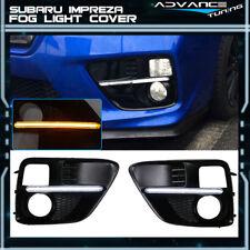 Fits 15-18 Subaru Impreza WRX Sti White DRL & Amber Switchback Fog Light Covers