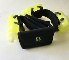 Amphipod Running Belt with 3, 10oz Water Bottles and Storage Pouch