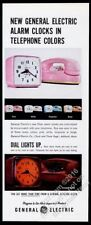 1961 General Electric Riser alarm clock pink Princess Phone photo print ad
