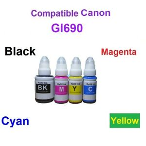 GI690 1 Set each Colour Generic Ink Compatible for CANON PIXMA G SERIES G3600